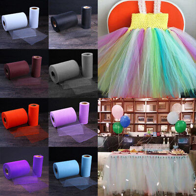 1PC 25Yard Tutu Tulle Roll Spool Netting Craft Fabric Wedding Party Decoration
