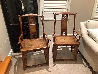 Beautiful Antique Chinese Wooden Chairs (Two) in good condition