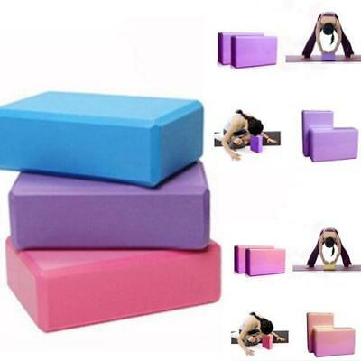 1X Pilates Yoga Block Foaming Brick Exercise Fitness Stretching Aid HOT SALE