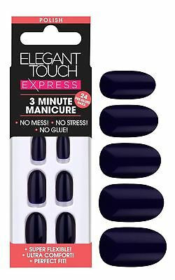 Elegant Touch Express False Nails - Polished Deep Navy (24 Nails)