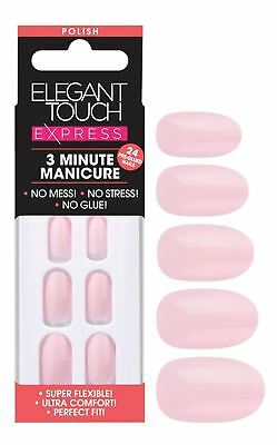 Elegant Touch Express False Nails - Polished Pastel Pink (24 Nails)