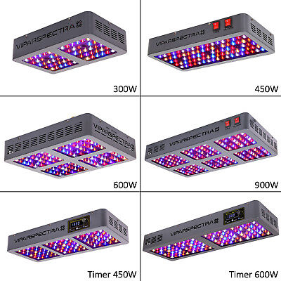 VIPARSPECTRA 300W 450W 600W 900W LED Grow Light Full Spectrum for Indoor Plants