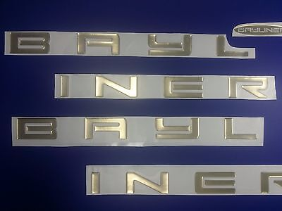 "BAYLINER boat Emblem 44"" gold + FREE FAST delivery DHL express -  stickers decal"