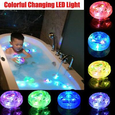 US Fun Party in the Tub Bath Time Baby Kid Shower Changing LED Light Color Toy