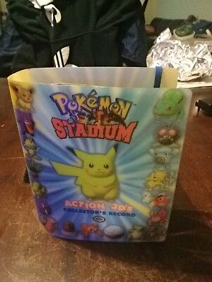 Pokemon Stadium Action 3D's Collectors 51 Cards in Folder - Complete Full Set