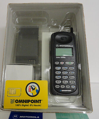 Omnipoint Vintage Motorola MICROTAC SELECT 2000e Cellular Phone..New In Box!!