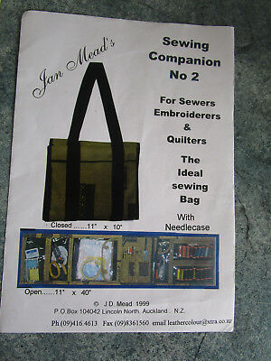 The Ideal Sewing Bag For Sewers & Embroiders With Needlecase By Jan Mead