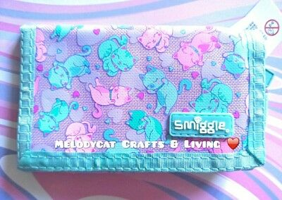 NEW! ✨SMIGGLE Kid's Wallet Purse for Girls Lilac, 💜 Cute Cats 🐈
