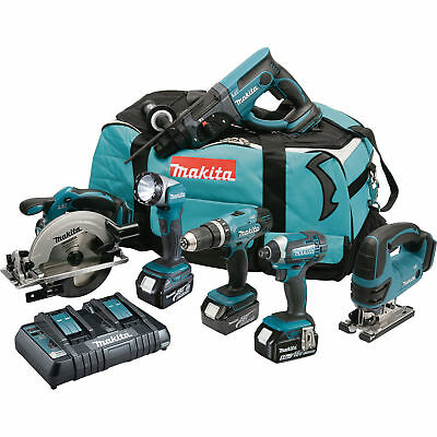 Makita Dlx6072Pt 18V 5.0Ah Li-Ion Lxt Cordless 6 Piece Kit - New
