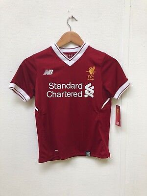 NB Kid's Liverpool FC 2017/18 Home Shirt - 6-7 Years - Red - M.Salah 11 - New
