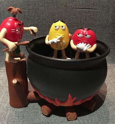 m&m's Halloween couldron share bowl collectable dispenser collectors edition