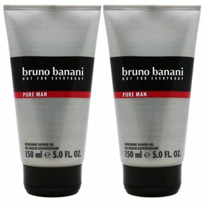 Bruno Banani Pure Man - Men 2 x 150 ml Showergel Duschgel Shower Gel Set