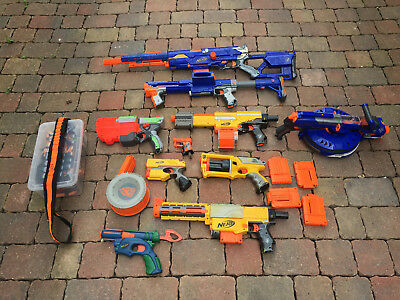 Job Lot of Nerf Guns, Longstrike CS6, Alpha Trooper, Vigilon, Raider CS35 & more