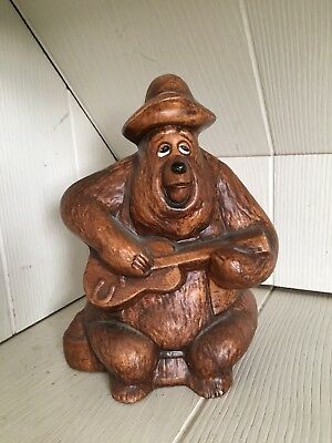 Vintage Ceramic Walt Disney Productions Big AL Country Jamboree Bear Coin Bank