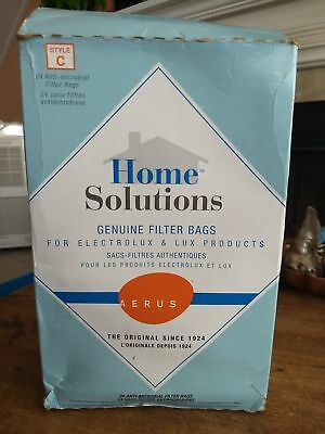 Electrolux Aerus 24 Home Solutions Style C Vacuum Genuine Filter Bags-Free Ship
