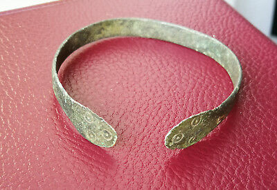 Ancient Viking bronze bracelet **Space Circles** REALLY RARE TYPE