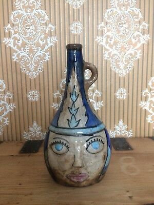 Antique Decorated Ceramic Bottle From Iraq/Syria. Islamic Interest, Middle East.