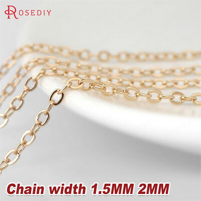 2 Meters oval metal chain 5.2x3mm  W18679