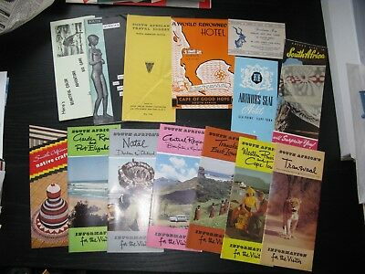 Large Lot Vintage South Africa Travel Maps Brochures Ephemera 1950s