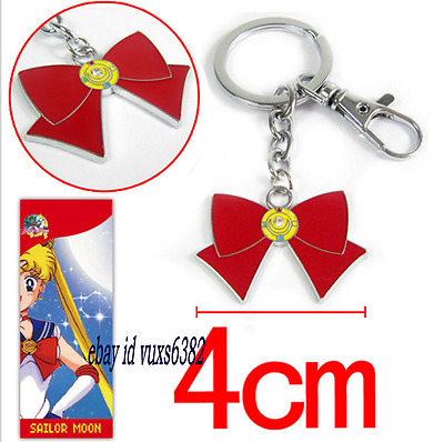 Japanese Anime Sailor Moon Red rosette Key Chain Keychain @#