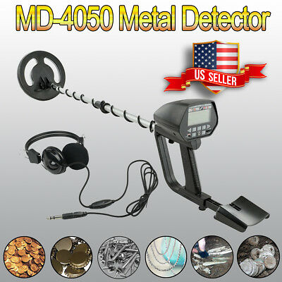 MD-4050 Deep Sensitive LCD Metal Detector Waterproof Search Coil Gold Hunter ZS