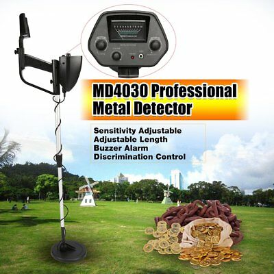 Outdoor Metal Detector MD4030 Deep Target Power Coils Treasure Hunting Black ZS