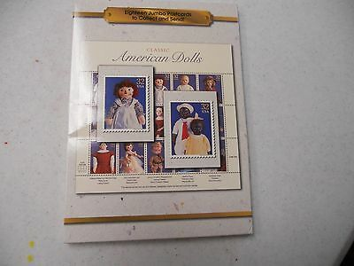 "United States Postal Service Package Of 18 Jumbo Postcards ""american Dolls"""