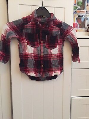 Girls River Island Flannel Shirt 18-24 Months