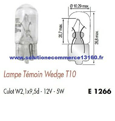 SET OF 2 LAMP BULB WITNESS WEDGE T10 12V 12 Volts 5W Base W2,1x9,5d
