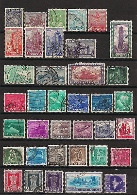 India - Lot of old stamps (ref 4826)