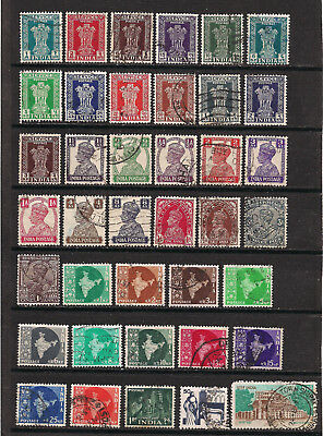 India - Lot of old stamps (ref 4825)