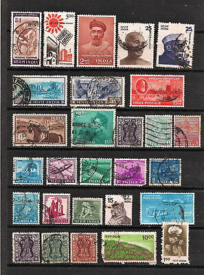 India - Lot of old stamps (ref 4827) - 2 SCANS