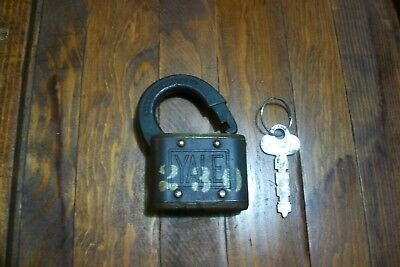 Antique / Vintage Yale Padlock & Key.