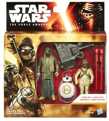 "Star Wars The Force Awakens 3.75"" Figure 3pk BB-8, Unkar's Thug, Jakku Scavenger"