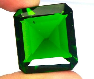 104.50Ct EGL Certified Green Moldavite Awesome Emerald Cut Loose Gemstone BY1991