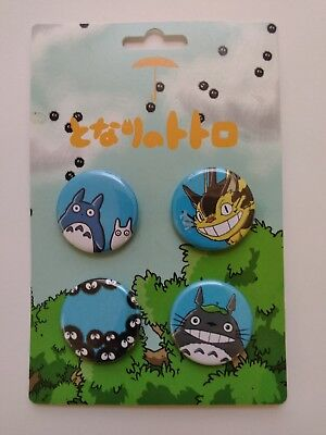 My Neighbor Totoro set of 4 buttons, Nerd Block, brand new FREE SHIPPING