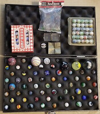65 Vintage Hand made Machine made and Contemporary Marbles