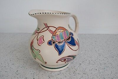 Honiton Stuio Pottery Hand Painted Medium jug 16cm - 'Bicton'