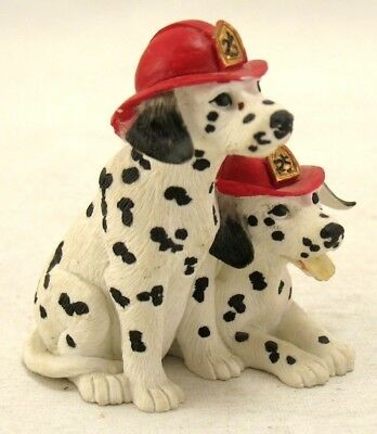 Westland Figurine Two Dalmation Puppies with Fireman Hats 303