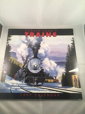 Howard Fogg's Trains 1997 Train-Themed Twelve Monthed Calendar