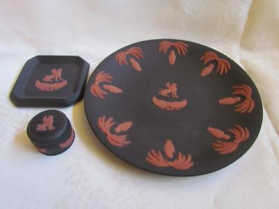 Wedgwood Black and Red Set Egyptian Figures