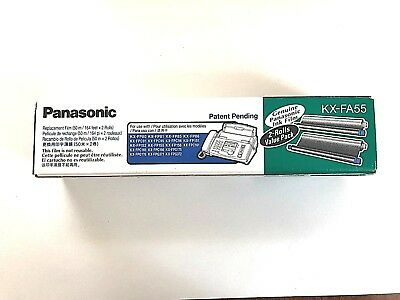 Genuine Panasonic KX-FA55 Replacement Ink Film 2 Rolls- Fax Machine NEW