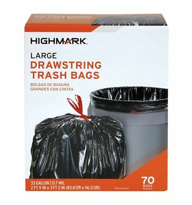 Highmark™ Trash Bags, 33 Gallons, Box Of 70