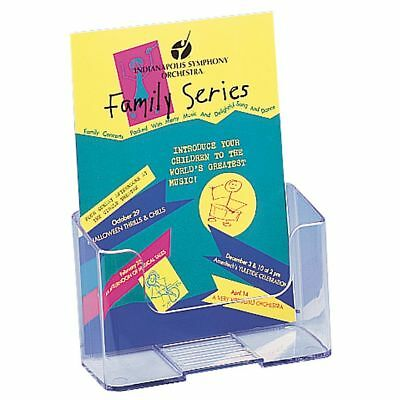 """Deflect-O Literature Holder, Booklet Size, 7 3/4""""H x 6 1/2""""W x 3 1/4""""D, Clear"""