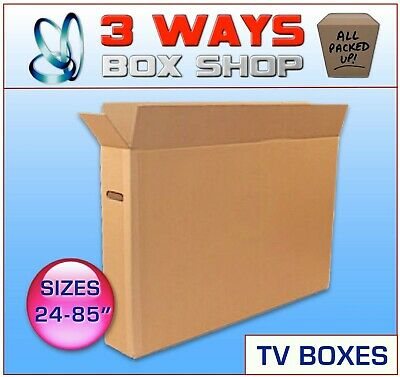TV Removal Cardboard Box - ideal for Screens, Artwork, Mirrors & Pictures