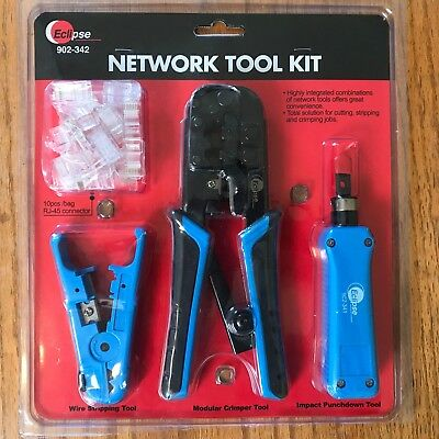 Eclipse Network Stripper Crimper Punchdown Tool Kit (902-342), Rj45 Connectors