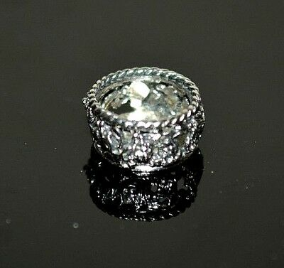 Miniature Sterling Silver Wine Coaster Dollhouse 1:12 Artist Made Obadiah Fisher