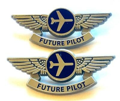 Airline Pins Silver Future Pilot Wings Costume Party With Minor Flaw 2 New