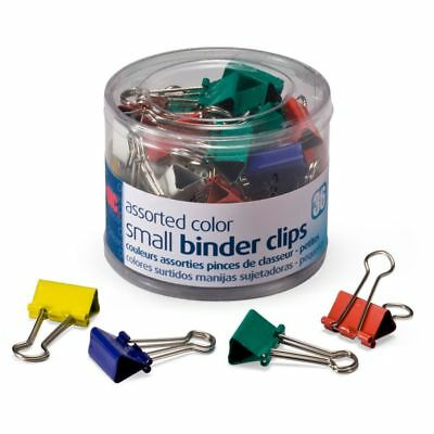 """OIC® Binder Clips Tub, Small Clips, 3/4"""", Assorted Colors, Pack Of 36"""