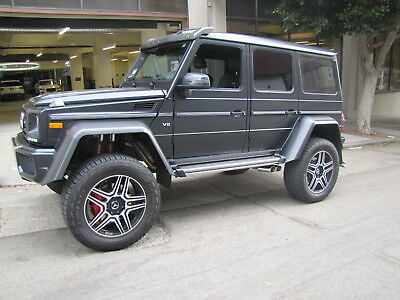 2018 Mercedes-Benz G-Class 4X4 Squared in Black with 1,201 miles 2018 MERCEDES BENZ G550 4X4 IN DESIGNO NIGHT BLACK MAGNO MATTE WITH BLACK